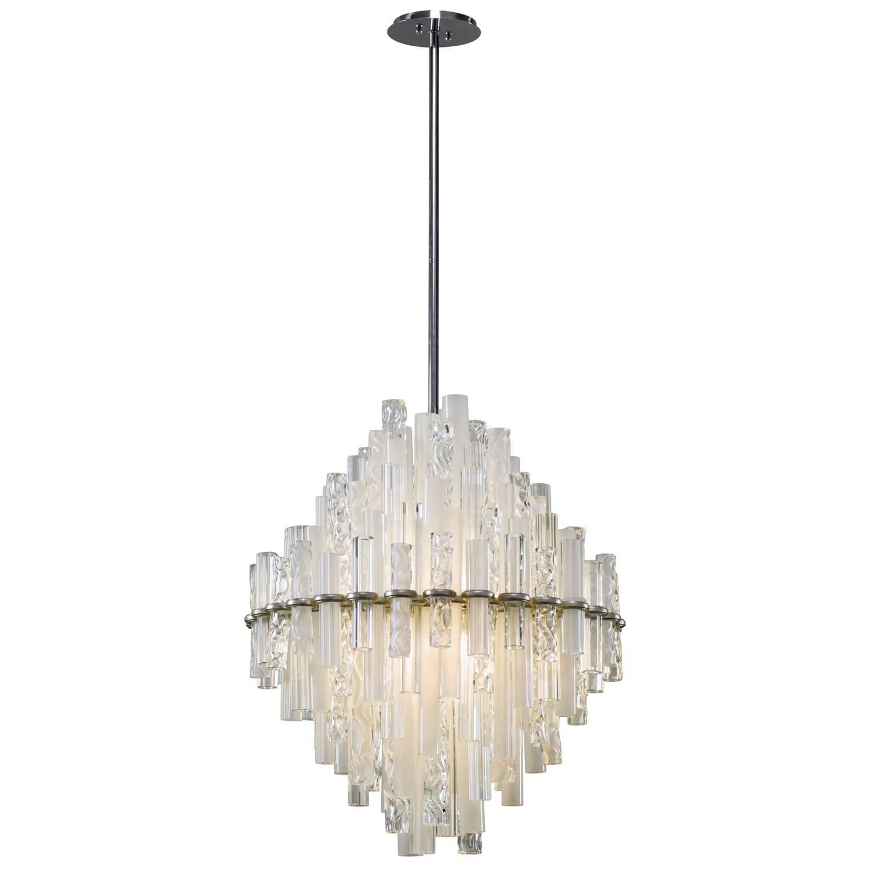 Corbett 219-43 Manhattan 2 Light Medium Pendant In Satin Silver with Corbett Vertigo Medium Pendant Lights (Image 4 of 15)