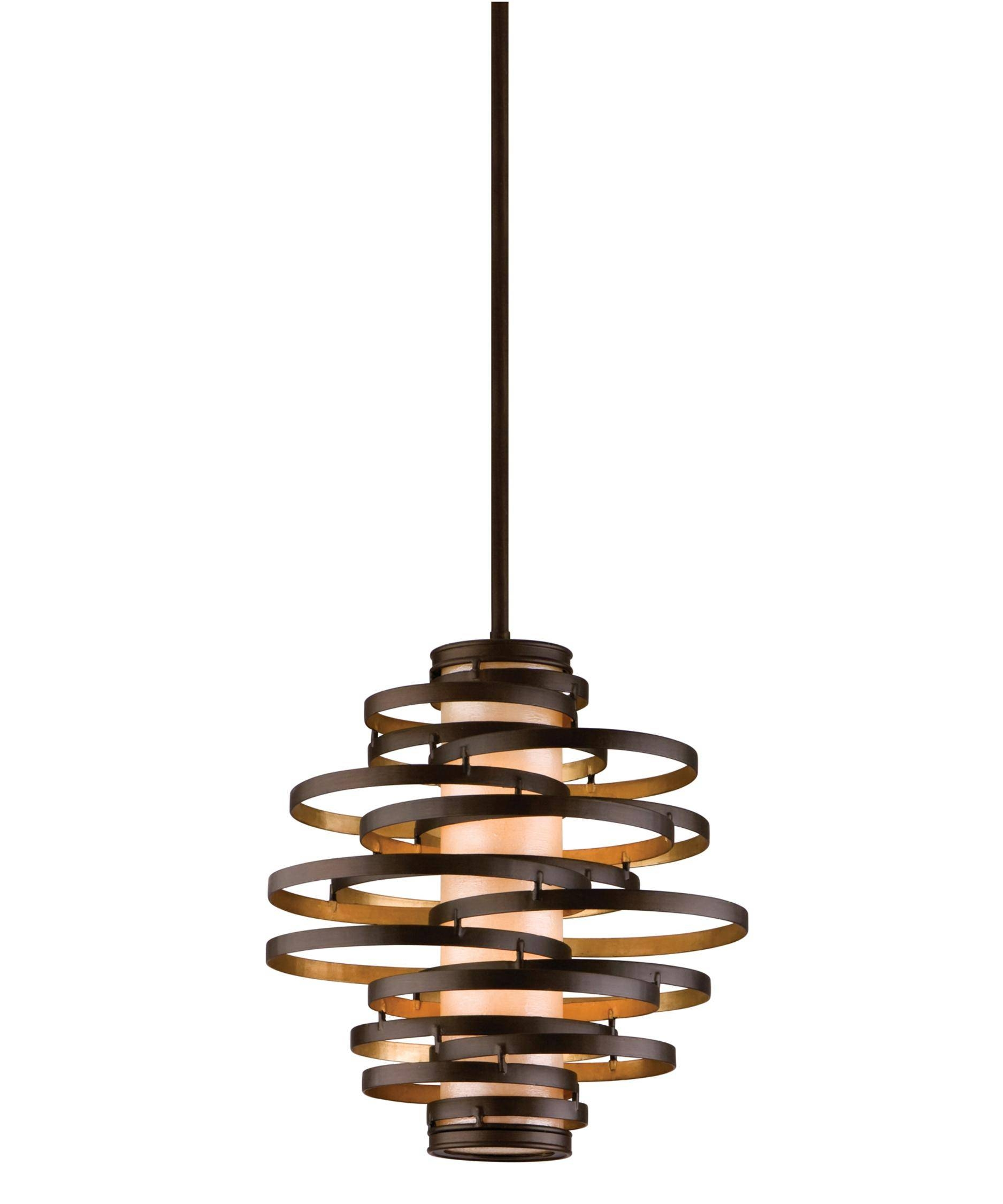 Corbett Lighting Ve-42 Vertigo 18 Inch Wide 2 Light Large Pendant for Corbett Vertigo Small Pendant Lights (Image 12 of 15)