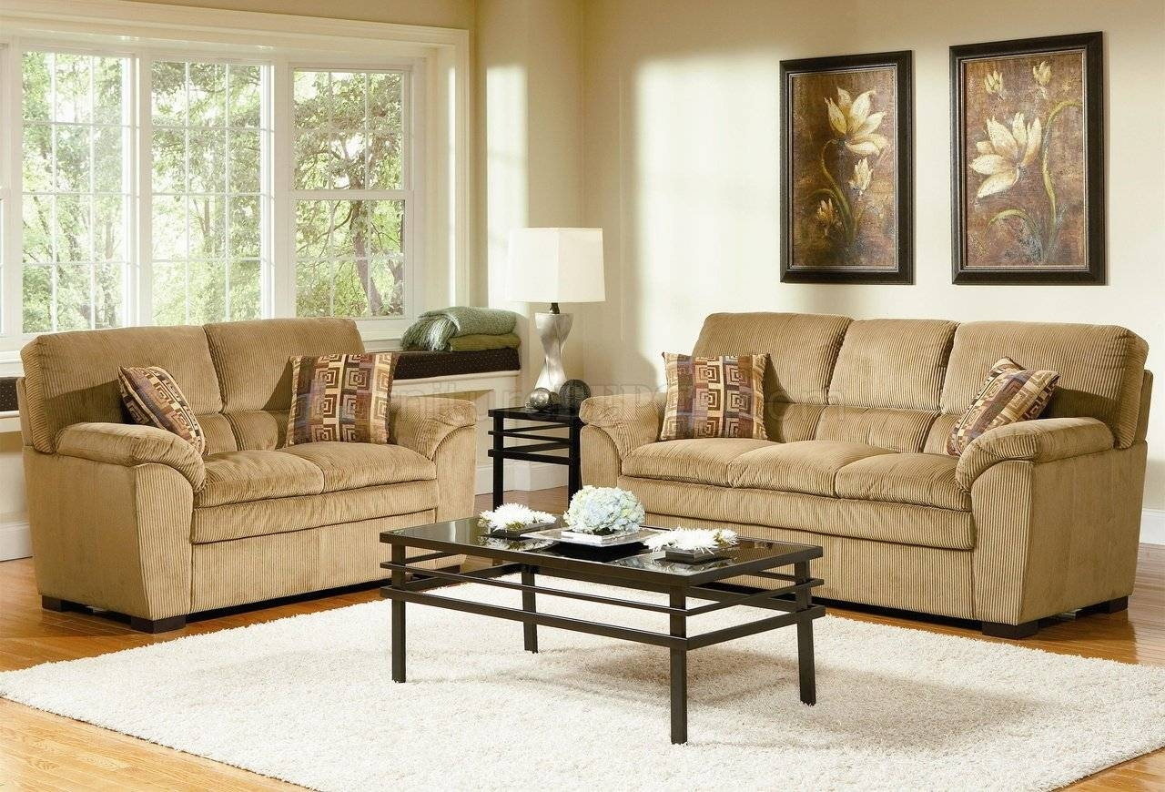 Corduroy Fabric Casual Living Room 502421 Camel With Casual Sofas And Chairs (View 10 of 15)