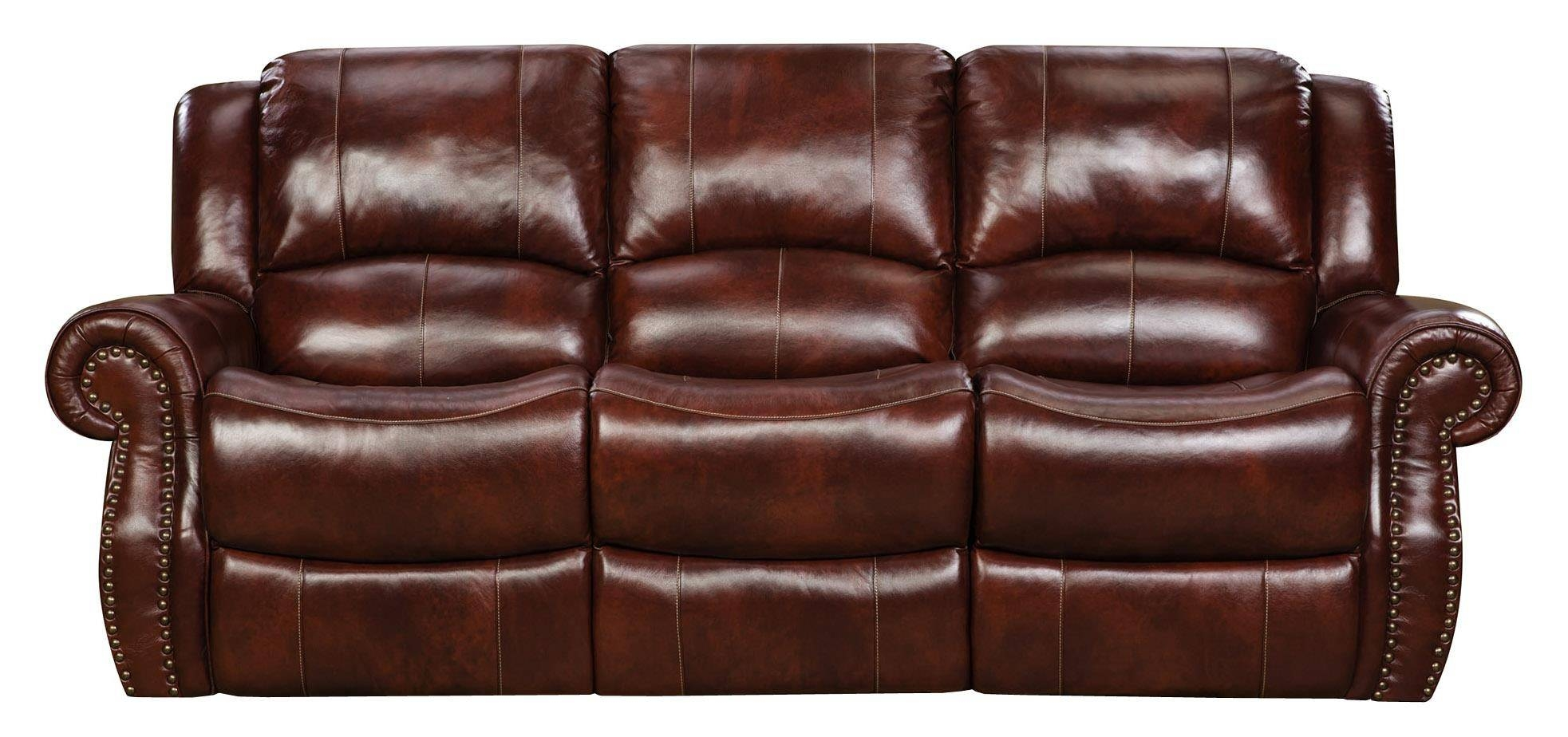 Corinthian Alexander Alexander Leather Reclining Sofa - Great for Corinthian Sofas (Image 7 of 15)