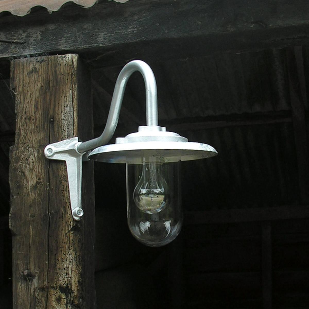 Corner Galvanised Barn Light inside Barn Lights Uk (Image 10 of 15)