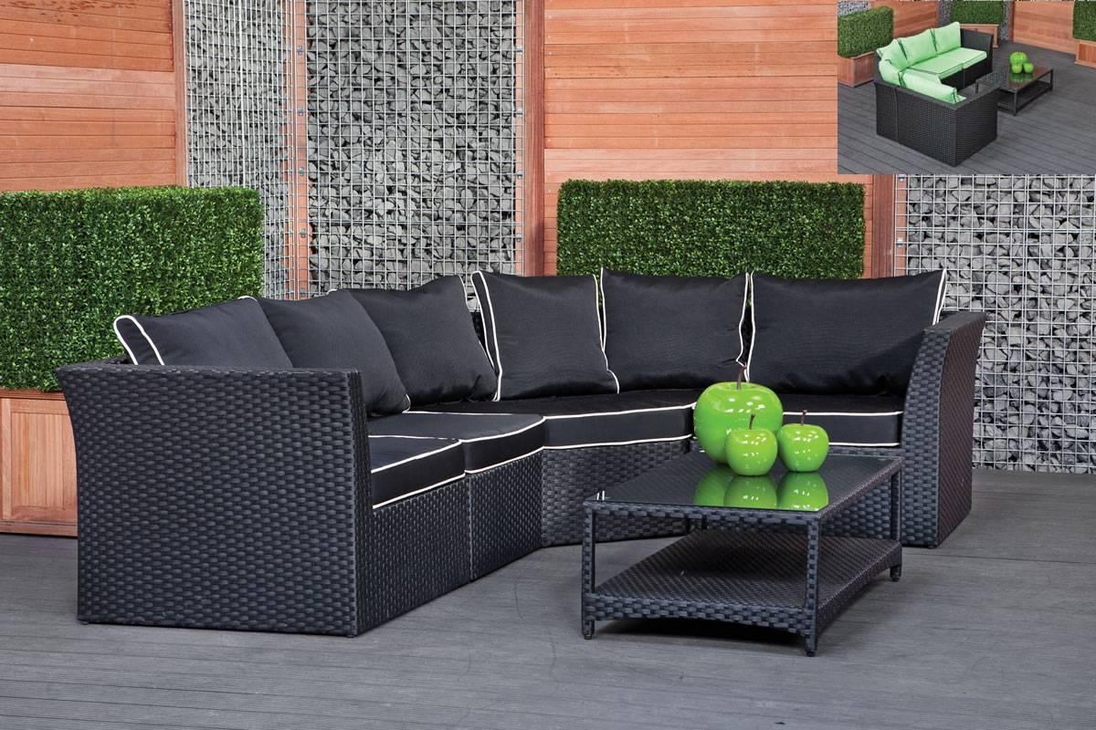 Corner Garden Sofa – Ferrara Within Black Wicker Sofas (View 5 of 15)
