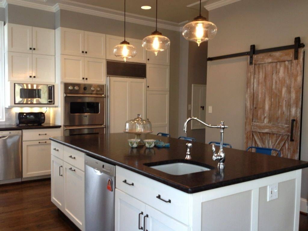 Cottage Kitchen With Breakfast Barheather O'donovan | Zillow pertaining to Cottage Pendant Lighting (Image 7 of 15)