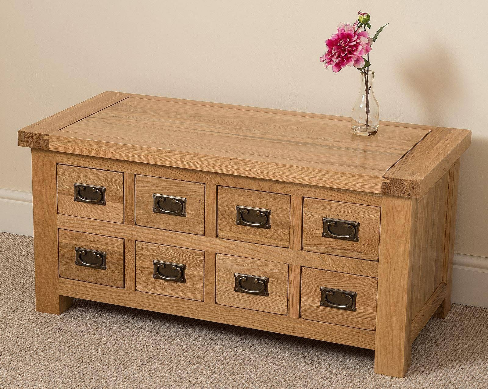 Cottage Oak Storage Coffee Table | Free Uk Delivery intended for Oak Storage Coffee Tables (Image 5 of 15)