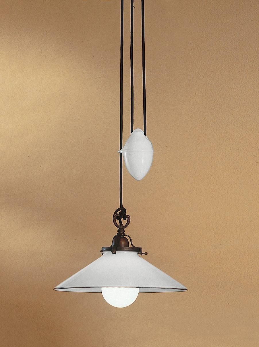 Country 081.11.ov Rise & Fall Pendant | Online Lighting within Counterweight Pendant Lights (Image 3 of 15)
