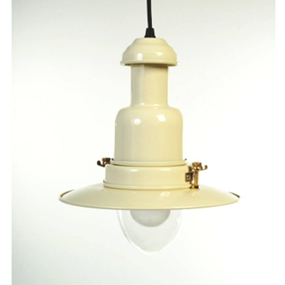 Country Cottage Cream Fisherman's Pendant Light Throughout Cottage Pendant Lighting (View 10 of 15)