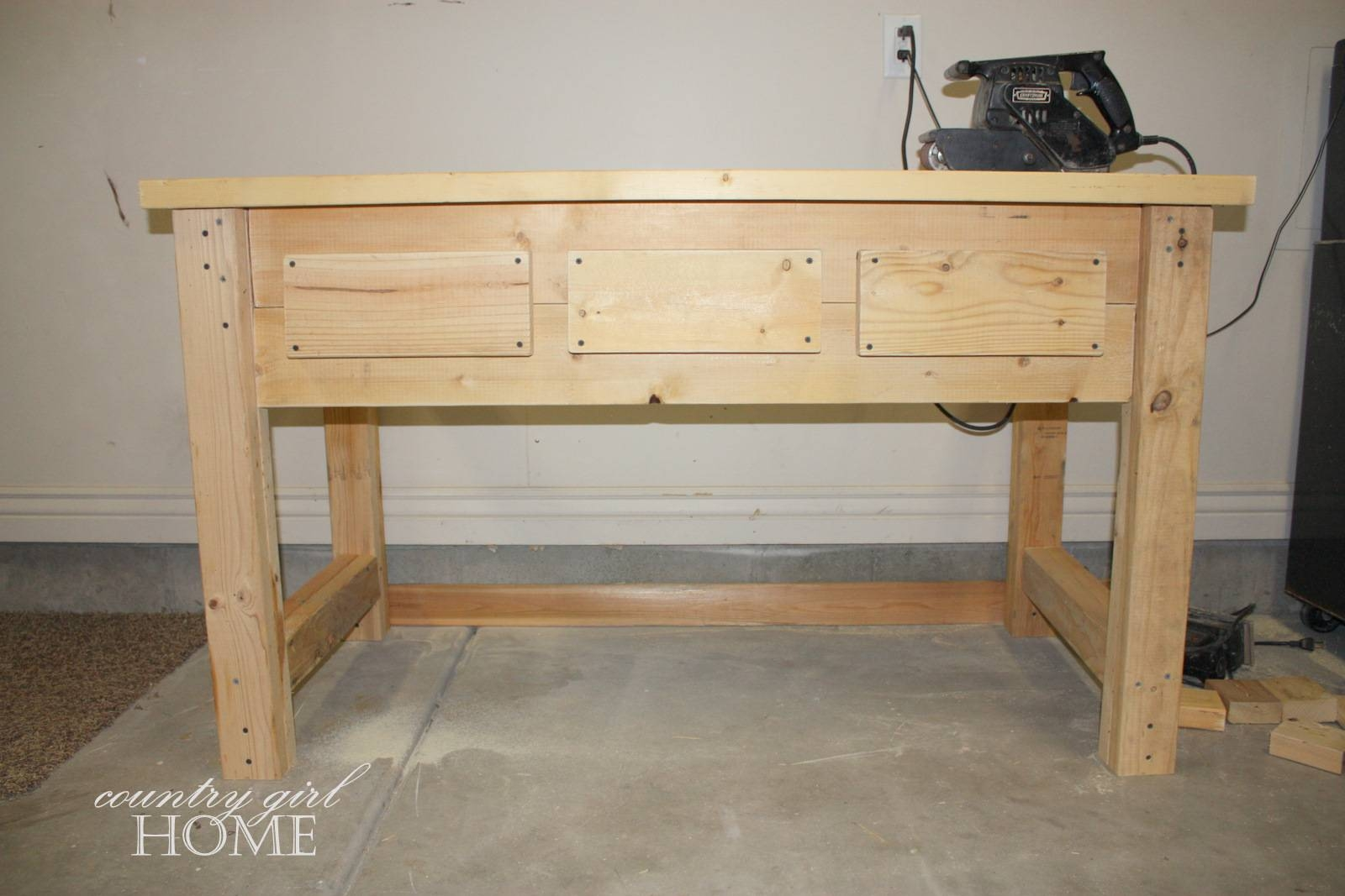 "Country Girl Home : My New ""hand Crafted"" Sofa Table throughout Country Sofa Tables (Image 6 of 15)"