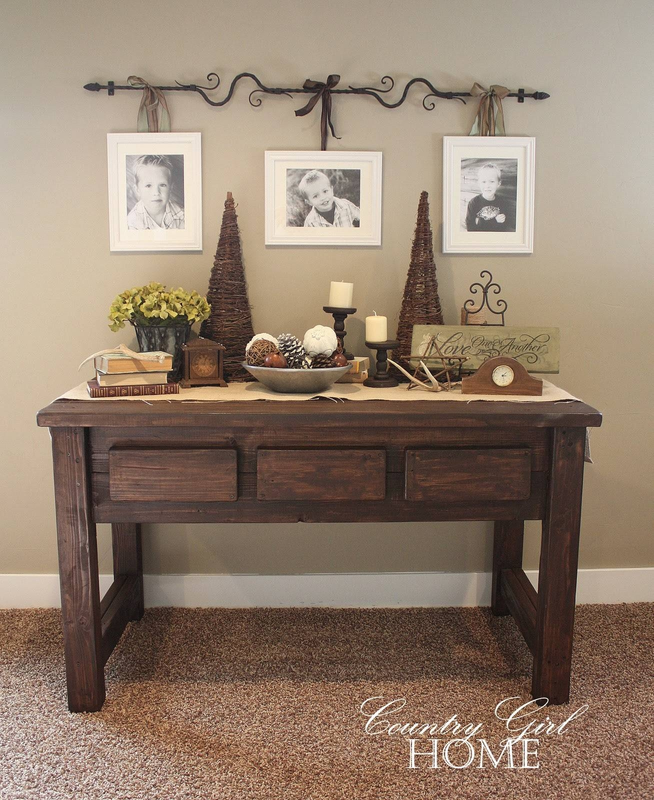 Country Girl Home : Table Tutorial in Country Sofa Tables (Image 7 of 15)