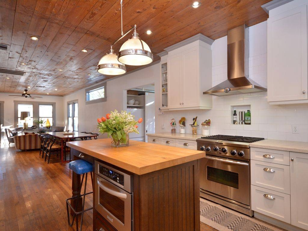 Country Kitchen With Glass Panel & Flush In Austin, Tx | Zillow with regard to Clemson Pendant Lights (Image 5 of 15)