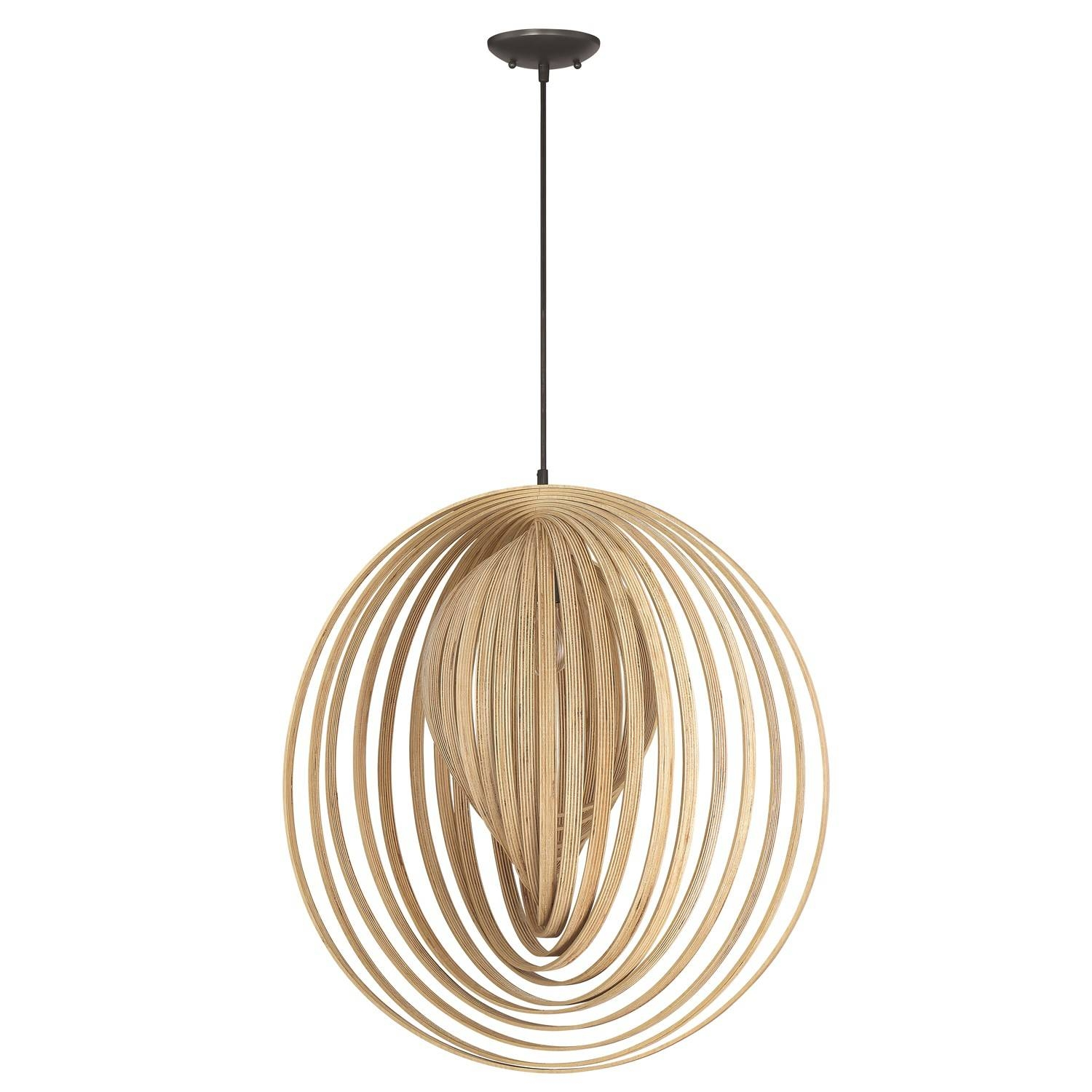 Craftmade 41293-Esp Cirq 1 Light Pendant In Espresso With Bentwood regarding Bentwood Lighting (Image 5 of 15)