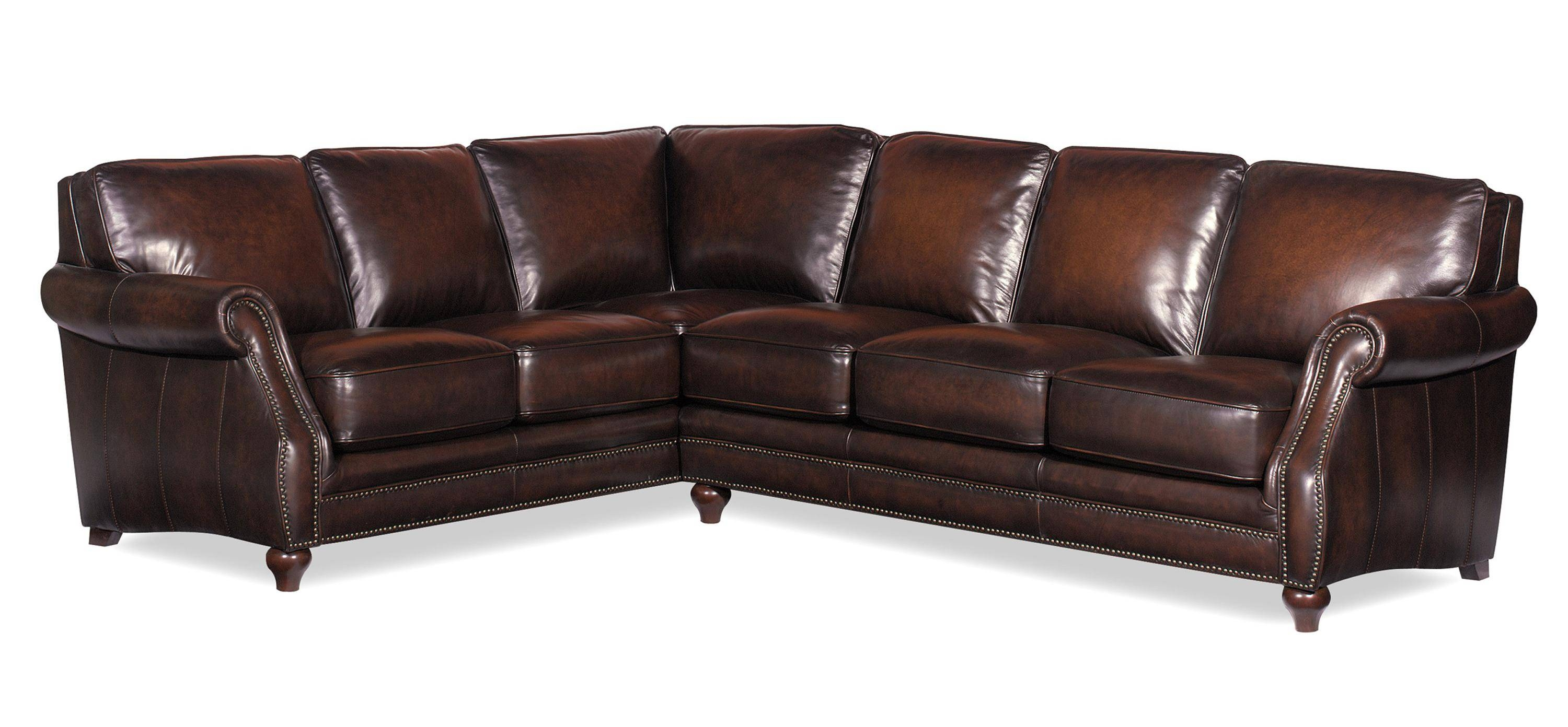 Craftmaster L121500 Traditional Two Piece Leather Sectional Sofa throughout Traditional Leather Sectional Sofas (Image 6 of 15)