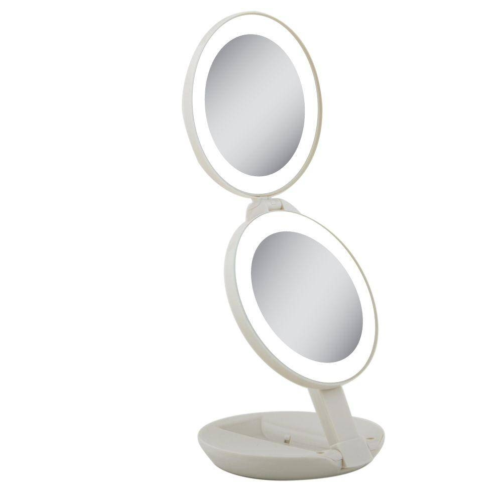 Cream - Bathroom Mirrors - Bath - The Home Depot regarding Oval Cream Mirrors (Image 6 of 15)