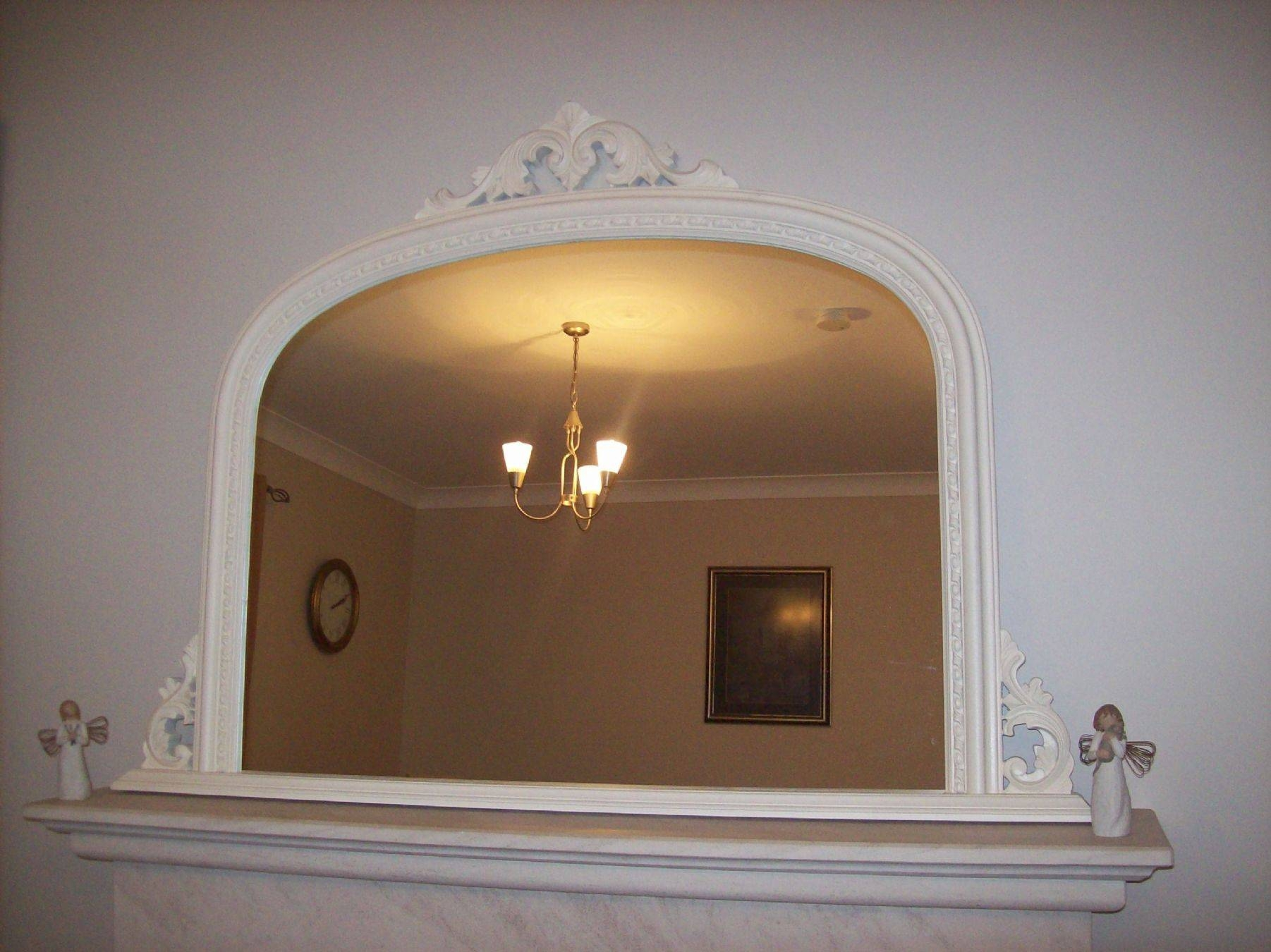 Cream Ornate Overmantle Mirror 4 throughout Over Mantle Mirrors (Image 5 of 15)