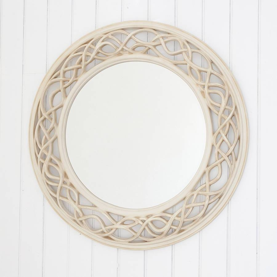 Cream Twisted Round Mirrordecorative Mirrors Online for Elaborate Mirrors (Image 3 of 15)