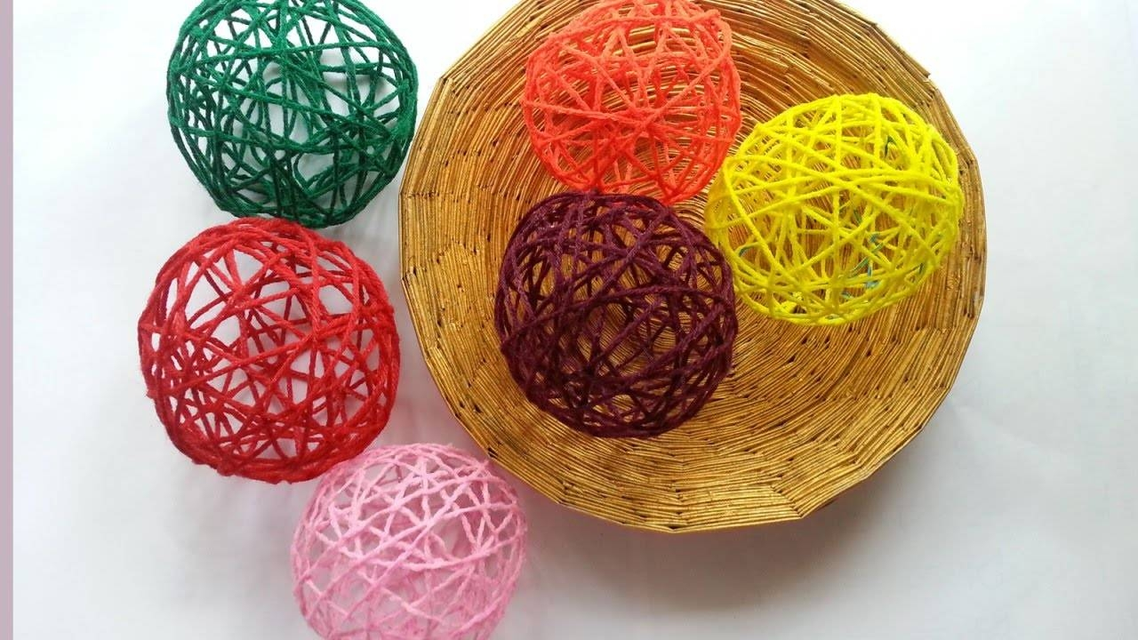 Create Decorative Yarn Balls - Diy Home - Guidecentral - Youtube with Diy Yarn Lights (Image 2 of 15)