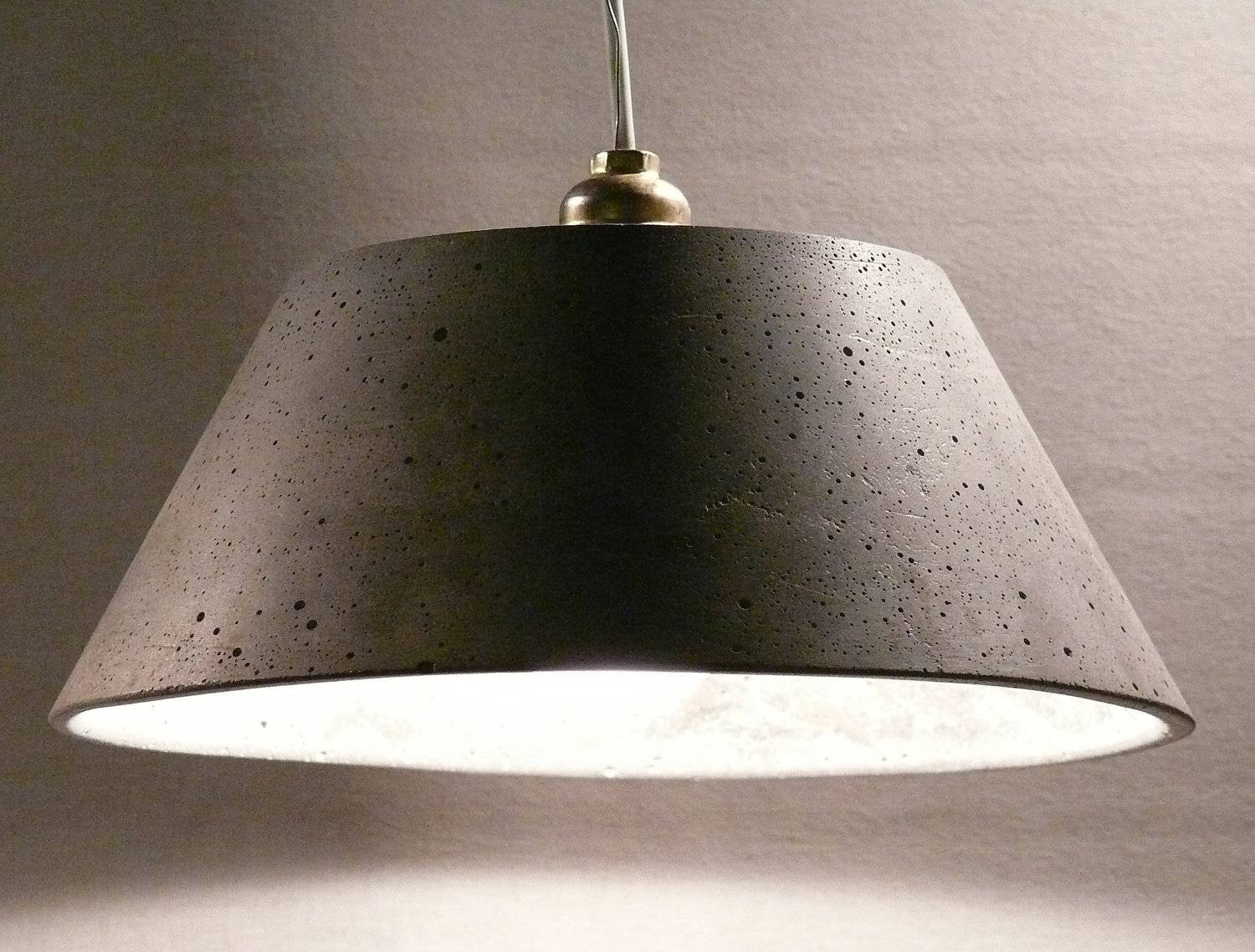 Creative Of Concrete Pendant Light With Home Decorating intended for Large Dome Pendant Lights (Image 5 of 15)
