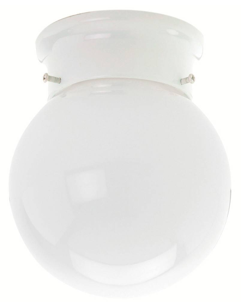 Crompton Lighting Small Ball Shape Diy Batten Fix Flush Mount with regard to Batten Fix Lights (Image 4 of 15)