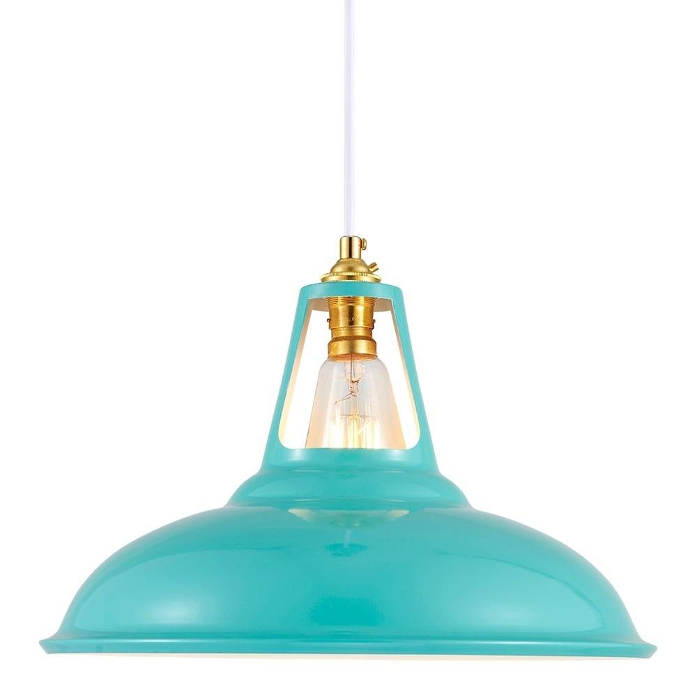 Cult Living Dulwich Aqua Industrial Pendant Lamp | Cult Furniture with Aqua Pendant Lights (Image 5 of 15)