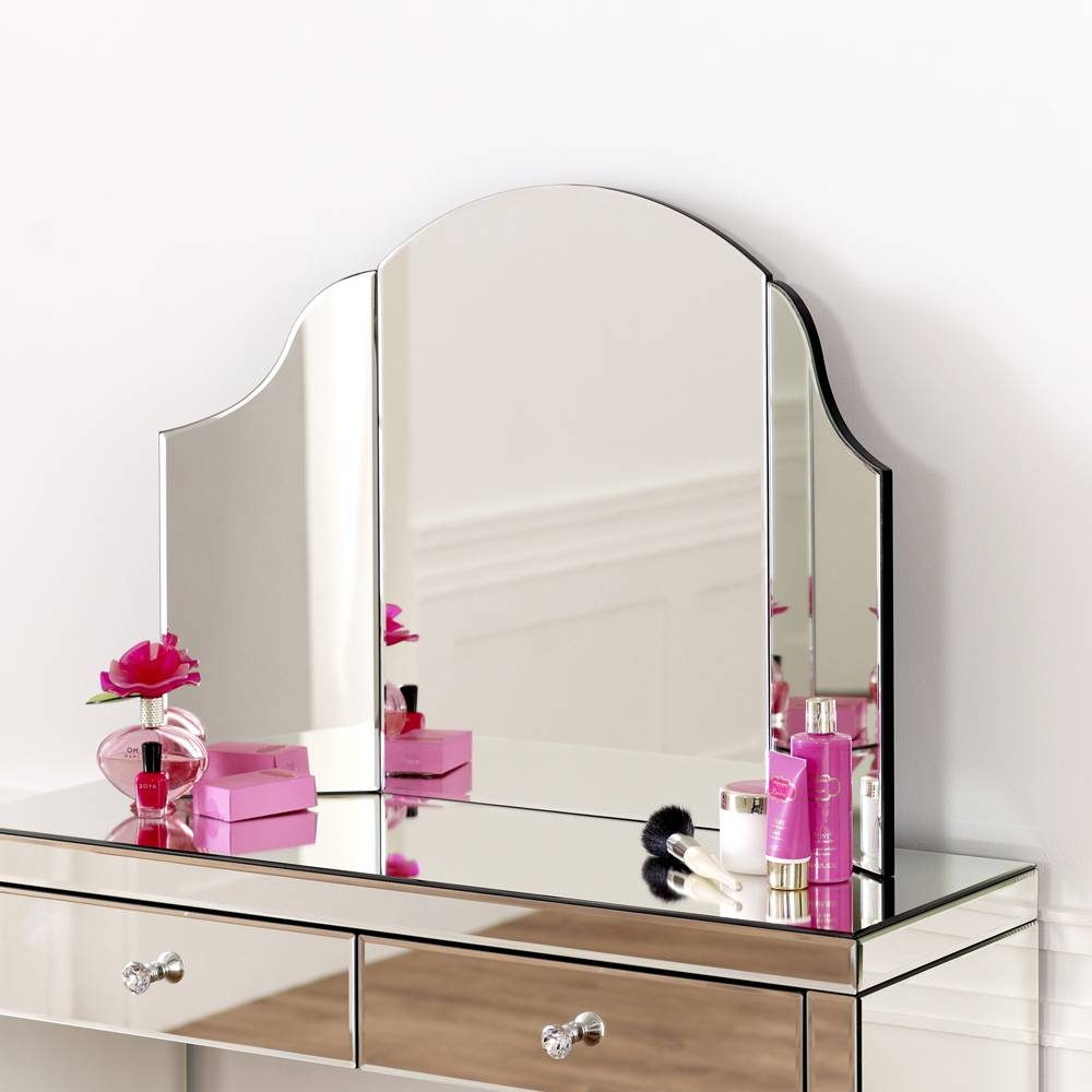 Curved Dressing Table Mirror intended for Venetian Dressing Table Mirrors (Image 3 of 15)