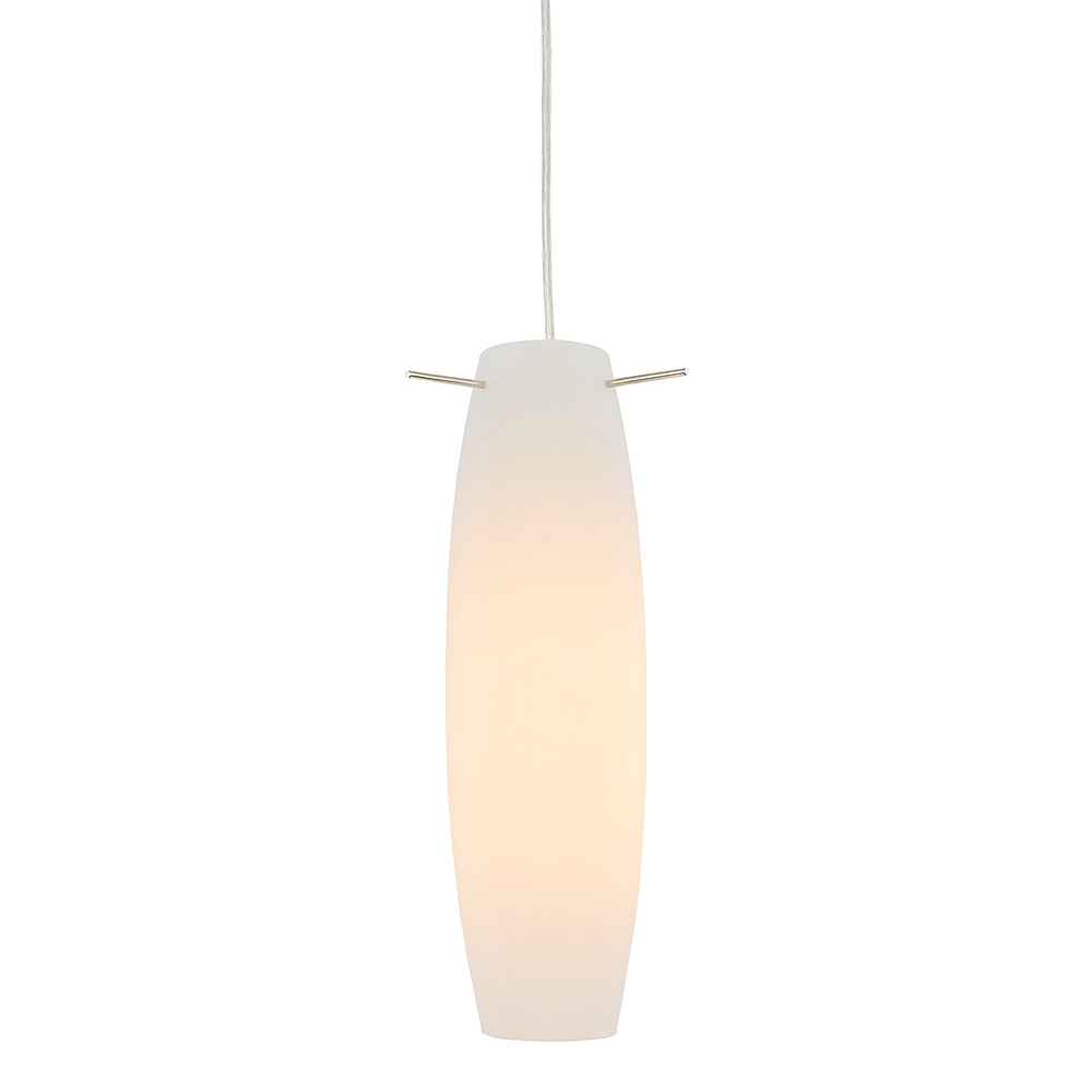 Curved White Glass Pendant Light Fitting With Chrome Plated Base Intended For Pendant Lights Base Plate (View 12 of 15)