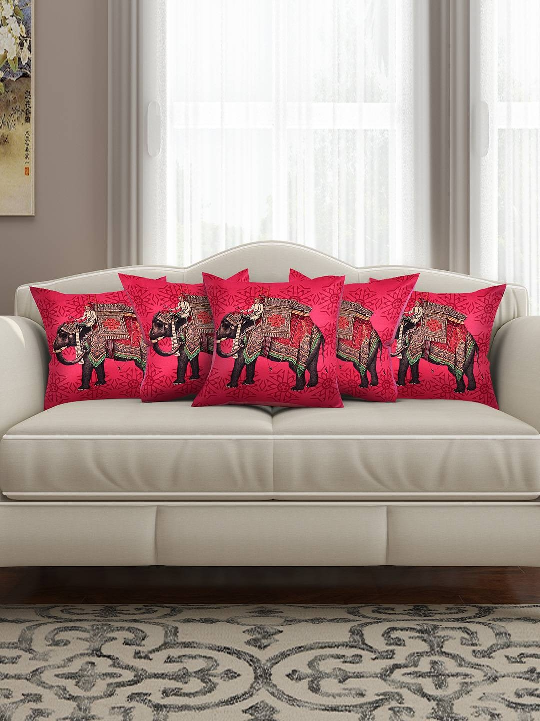 Cushion Covers - Buy Cushion Cover Online In India | Myntra intended for Sofa Cushion Covers (Image 3 of 15)