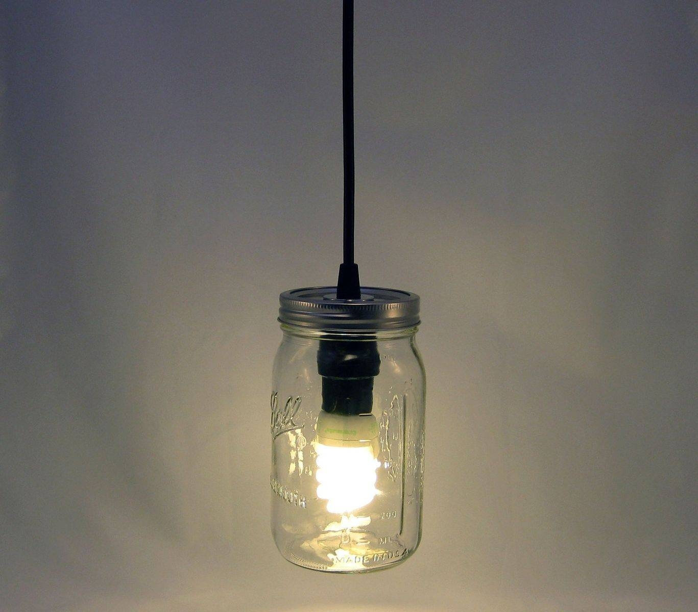 Custom Ball Mason Jar Hanging Pendant Light - Bmql-Svtmilton pertaining to Ball Jar Pendant Lights (Image 7 of 15)