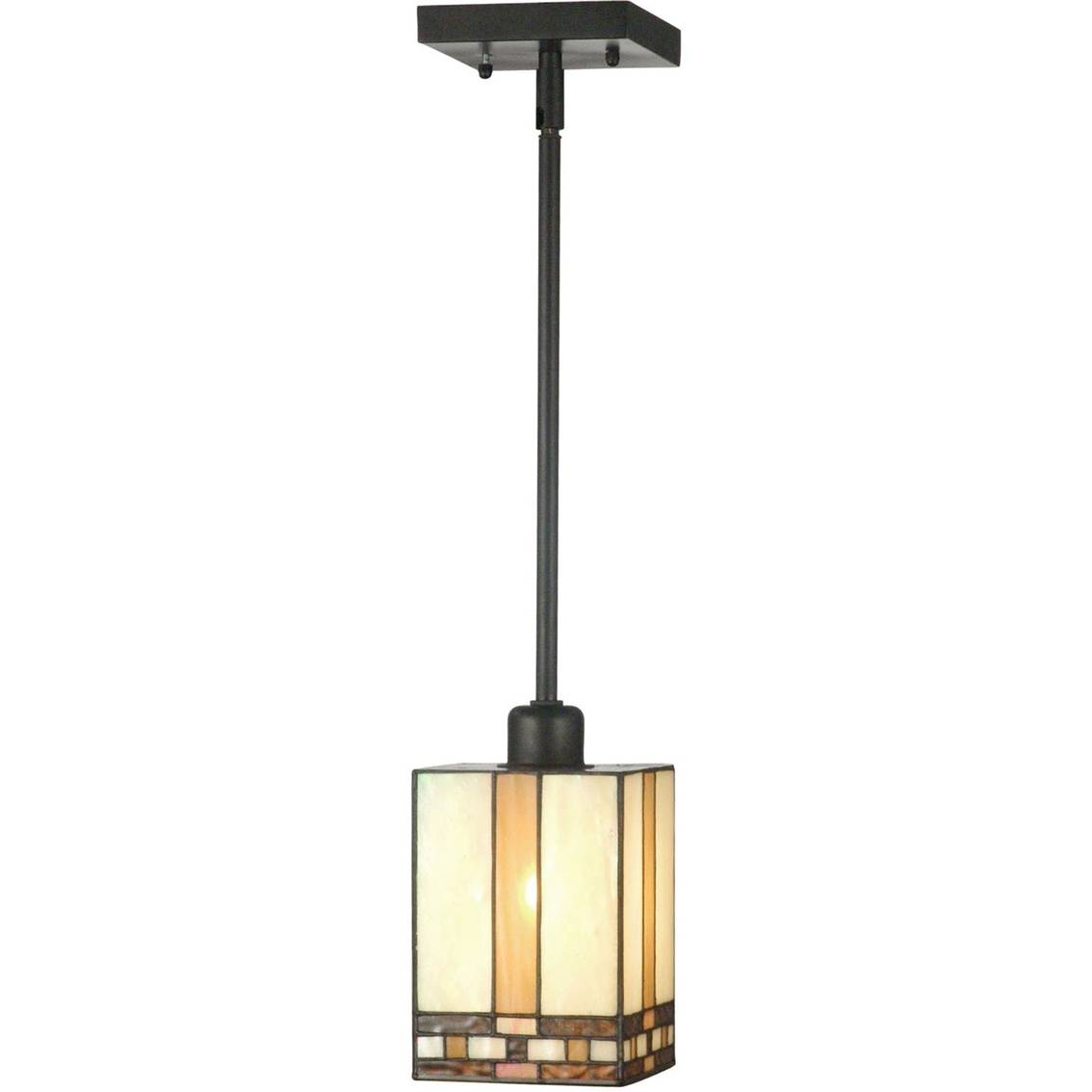 Dale Tiffany Mission Mini Pendant Lamp | Ceiling Lights | Home throughout Mission Pendant Light Fixtures (Image 3 of 15)
