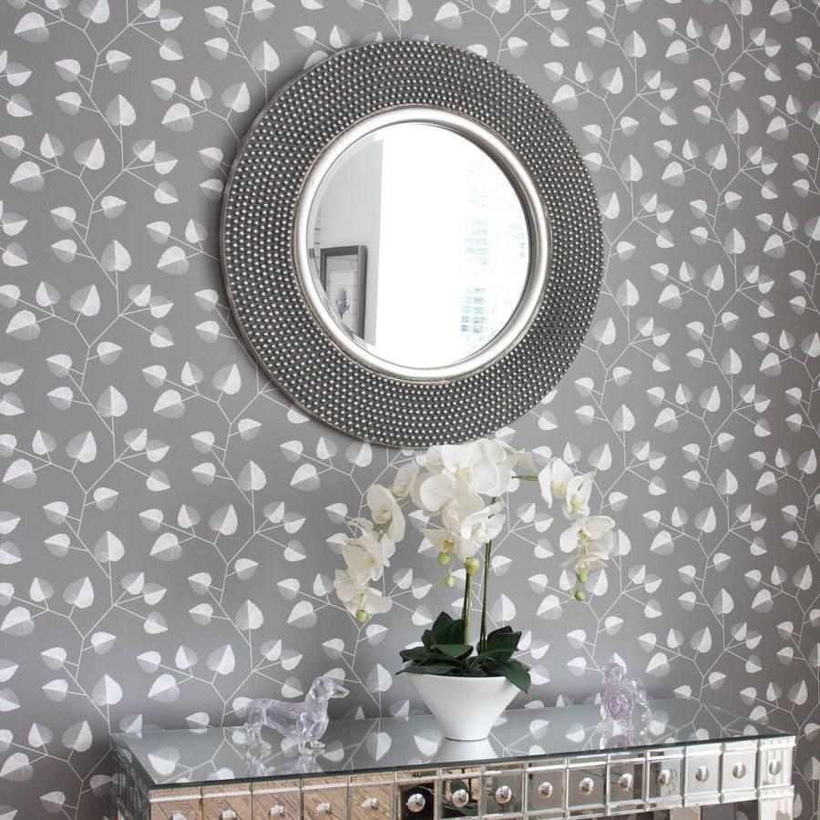 Dante Round Silver Mirrordecorative Mirrors Online inside Round Silver Mirrors (Image 3 of 15)