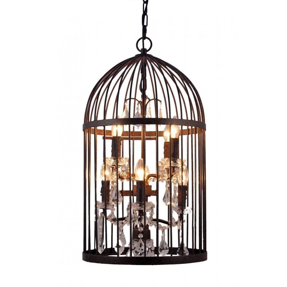 Dark Bronze Bird Cage Lantern   Ceiling Lights  Libra throughout Birdcage Lighting Chandeliers (Image 9 of 15)
