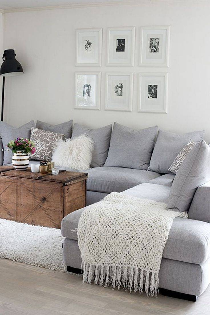 Dark Grey Sofa With Cushions | Cushions Decoration within Blue Gray Sofas (Image 6 of 15)