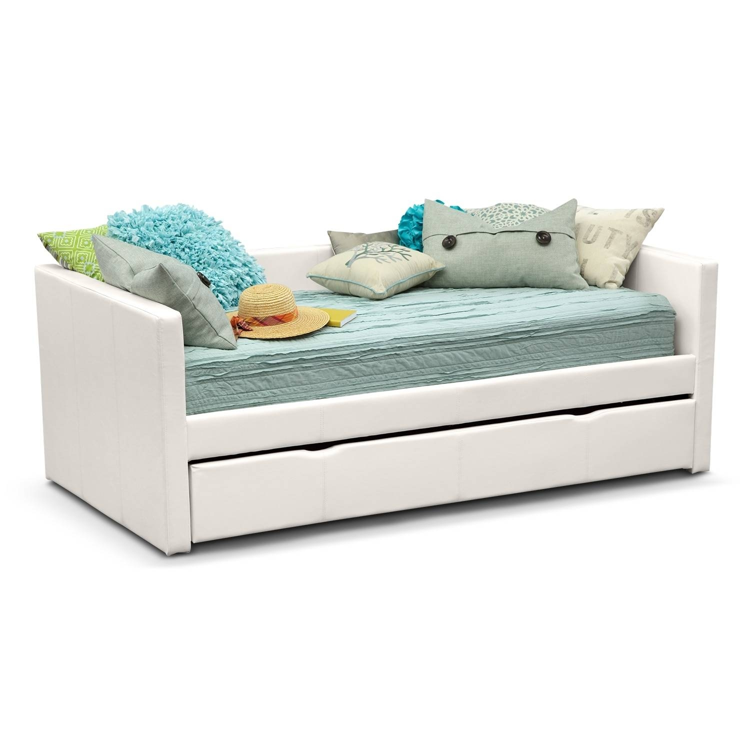 Daybeds & Trundle Beds | Bedroom Furniture | American Signature In Sofas Daybed With Trundle (View 1 of 15)