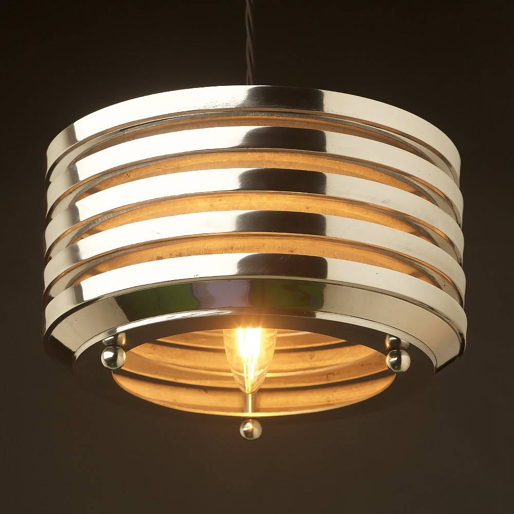 Deco Aluminium Disc Light Pendant within Art Nouveau Pendant Lights (Image 9 of 15)