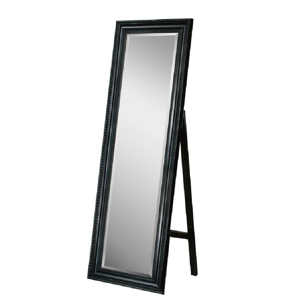 Deco Mirror 18 In. X 64 In. Carousel Floor Mirror In Black-8806 pertaining to Free Standing Black Mirrors (Image 4 of 15)