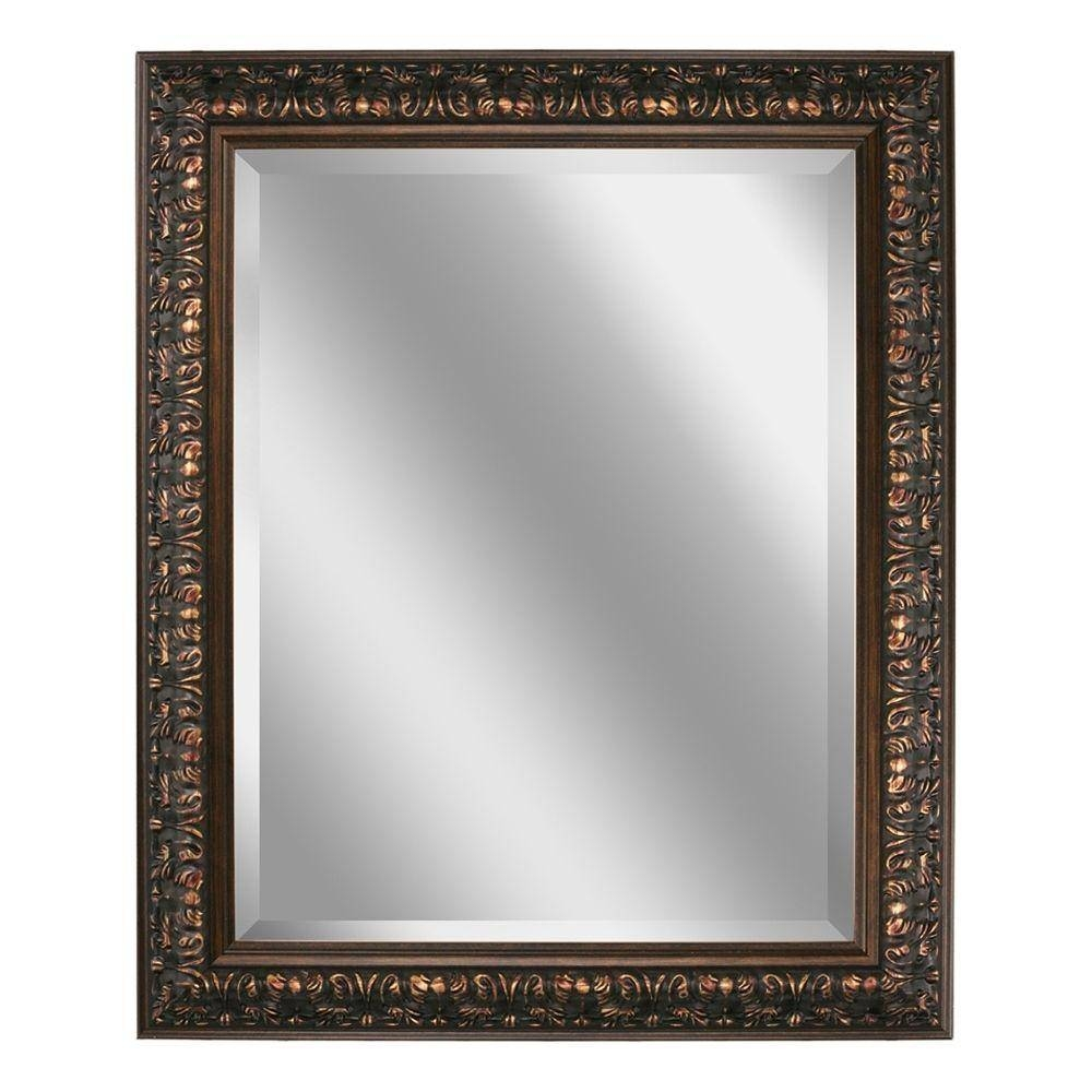 Deco Mirror 28.5 In. X 34.5 In. Ornate Mirror In Bronze-8836 - The pertaining to Black Ornate Mirrors (Image 5 of 15)