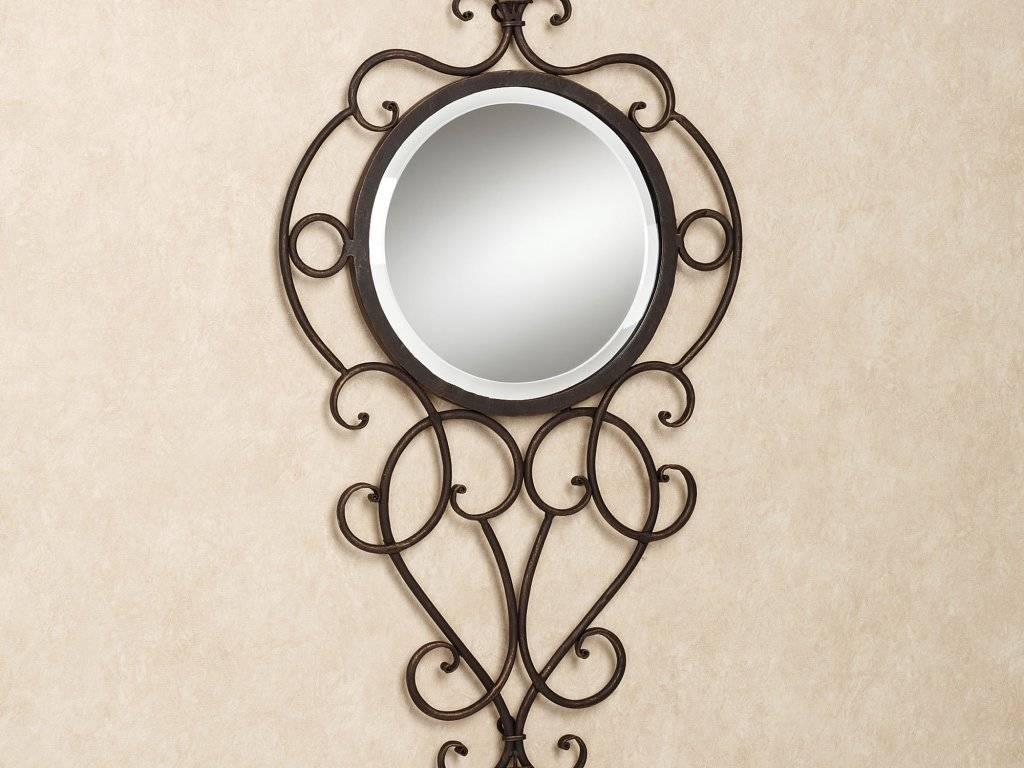 Decor : 53 Round Wall Mirror Mirror Wrought Iron Wall Decor Metal within Wrought Iron Bathroom Mirrors (Image 9 of 15)