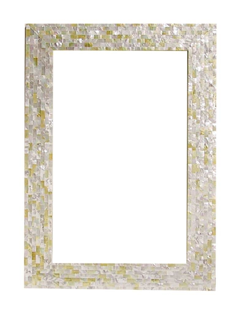 Decor: Home Decoration With Wall Mirror In Mother Of Pearl Mirror intended for Mother of Pearl Wall Mirrors (Image 4 of 15)
