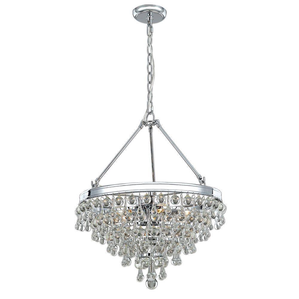 Decor Living - Pendant Lights - Hanging Lights - The Home Depot for Crystal Pendant Lights (Image 7 of 15)