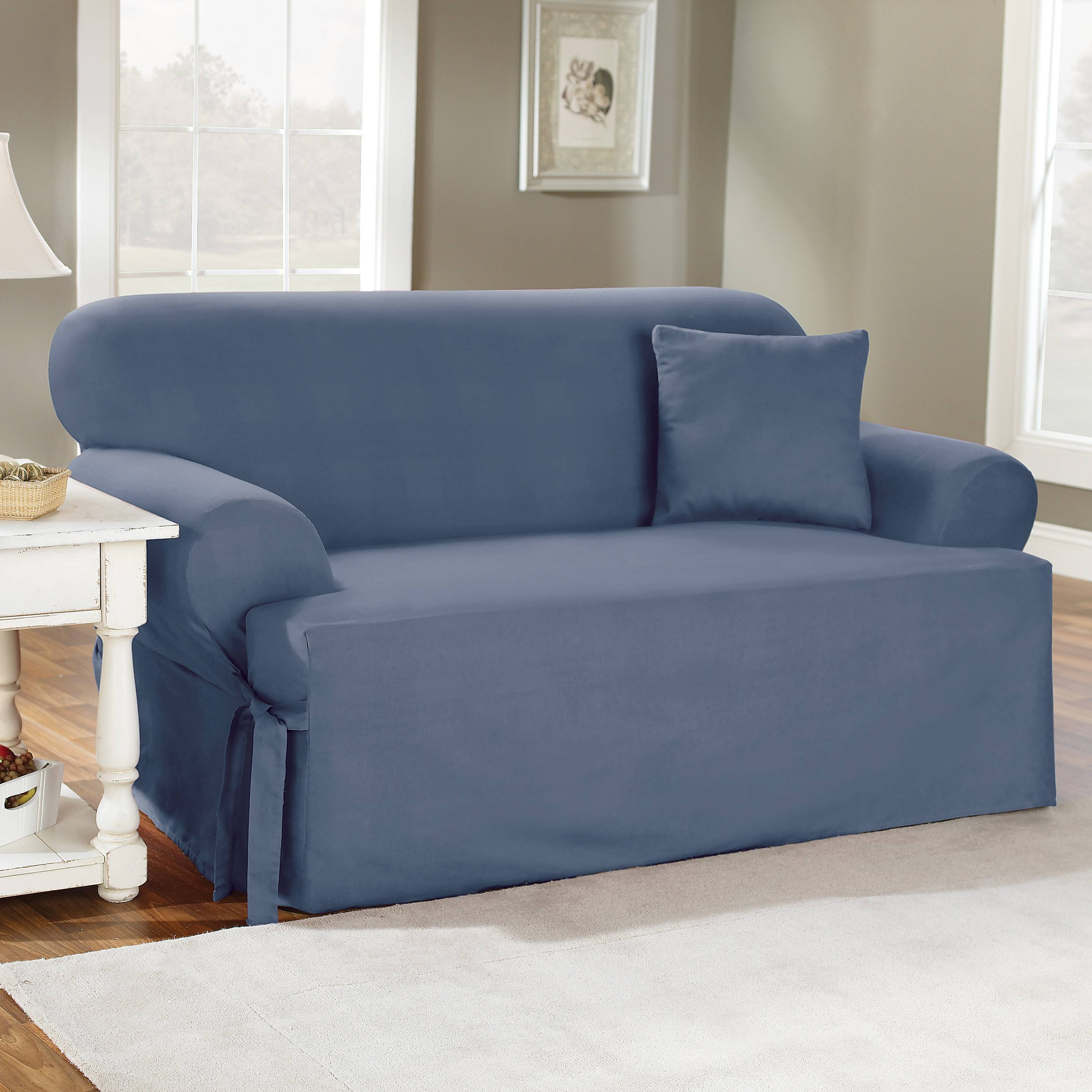 Decor: Stylish T Cushion Sofa Slipcover For Living Room Decoration throughout Loveseat Slipcovers 3 Pieces (Image 3 of 15)