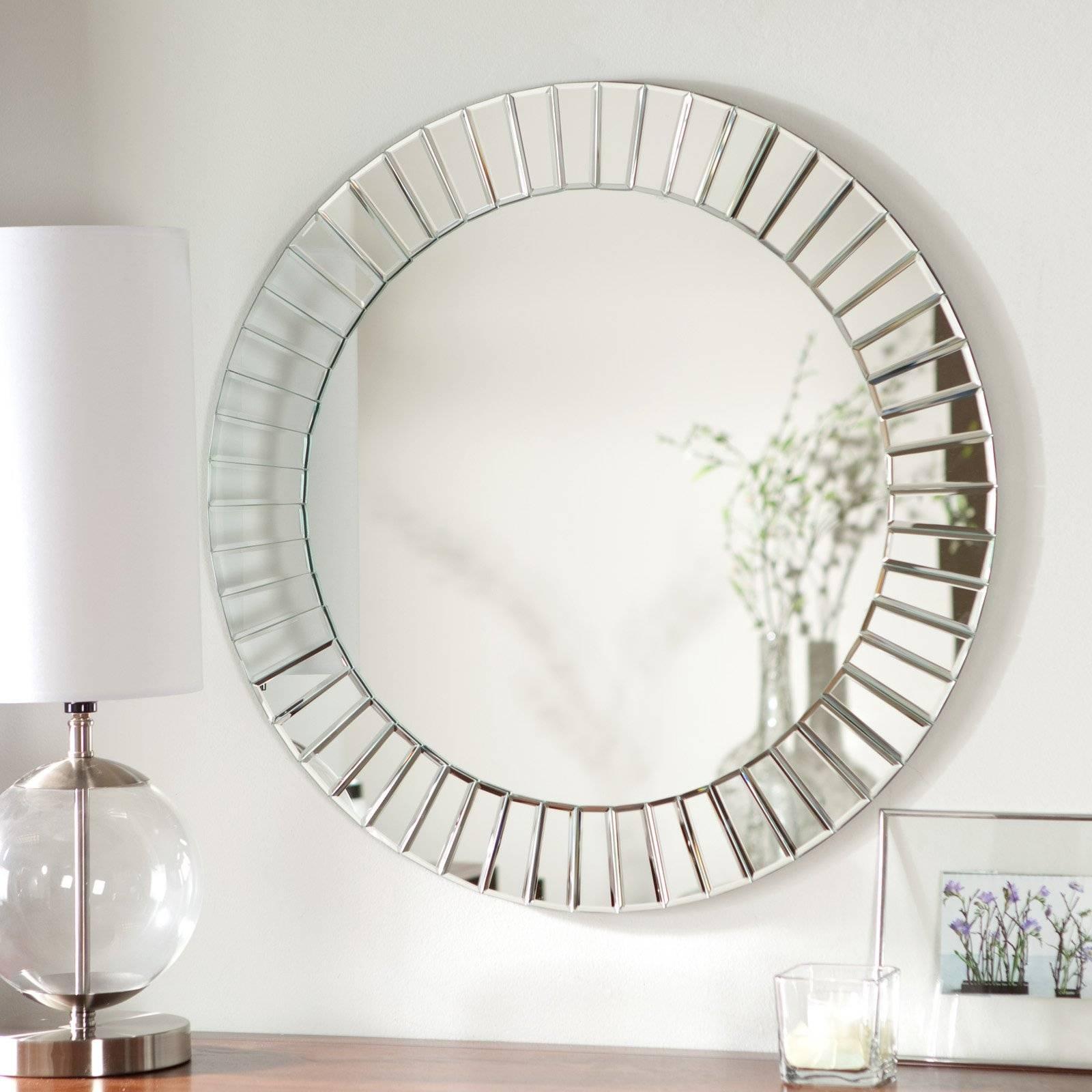 Décor Wonderland Fortune Modern Frameless Beveled Wall Mirror regarding Frameless Wall Mirrors (Image 4 of 15)