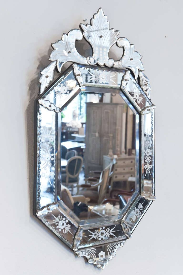 Decorating Ideas: Divine Image Of Etched Glass Mirrored Antique with Venetian Etched Glass Mirrors (Image 7 of 15)