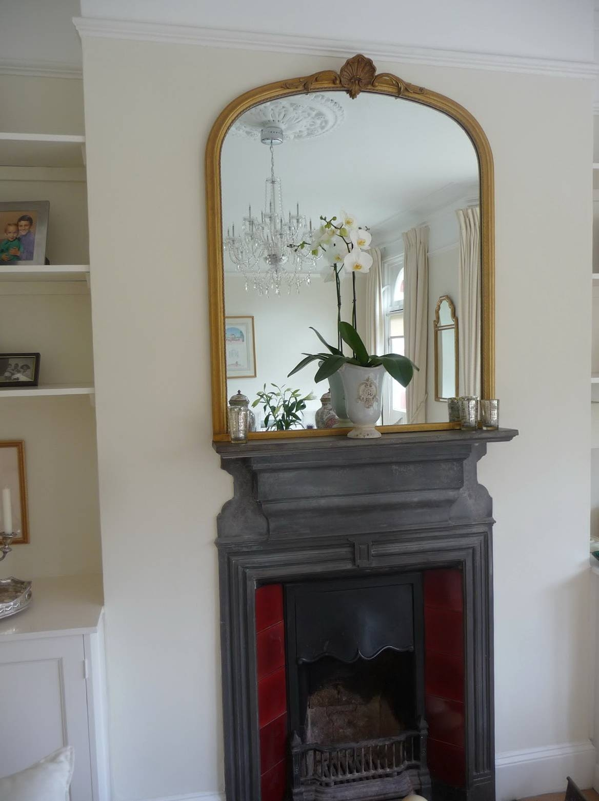 Decoration. Decorate Fireplace Using Wall Mirror Ideas intended for Gold Mantle Mirrors (Image 5 of 15)