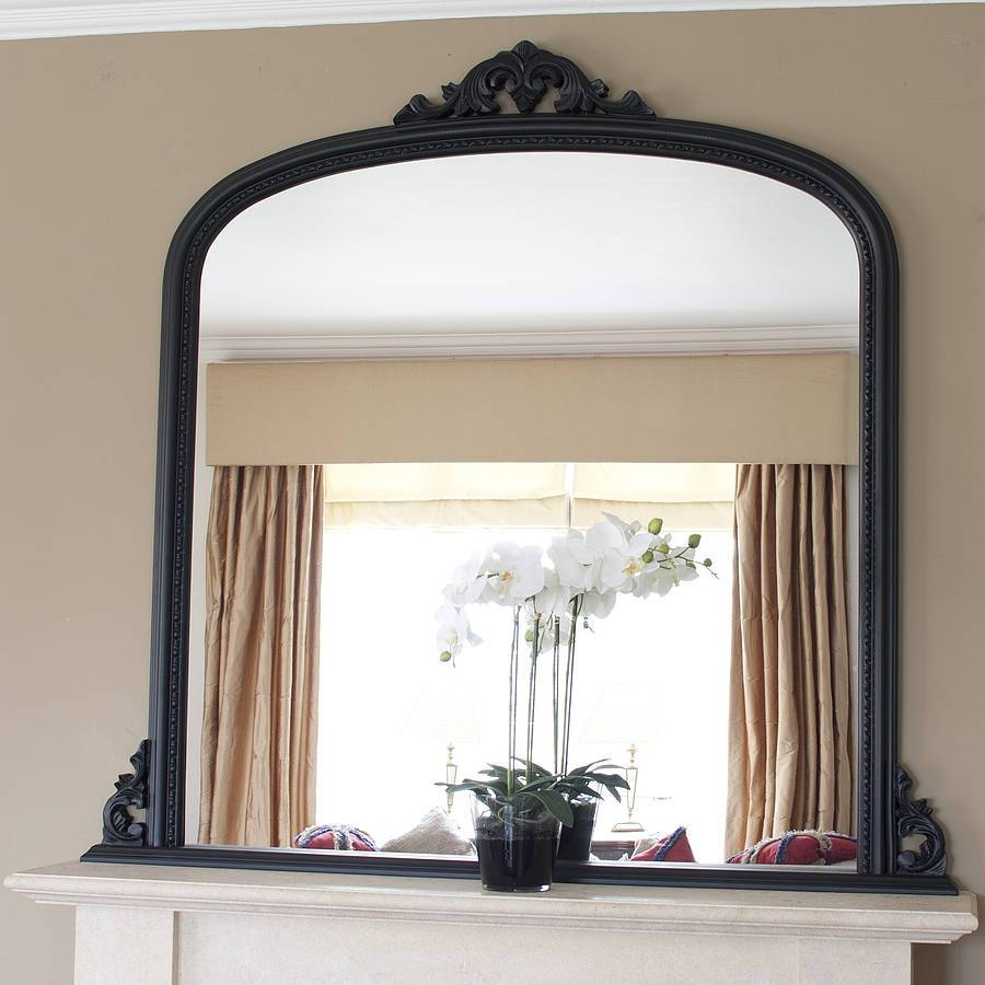 Decoration. Decorate Fireplace Using Wall Mirror Ideas pertaining to Large Mantel Mirrors (Image 6 of 15)