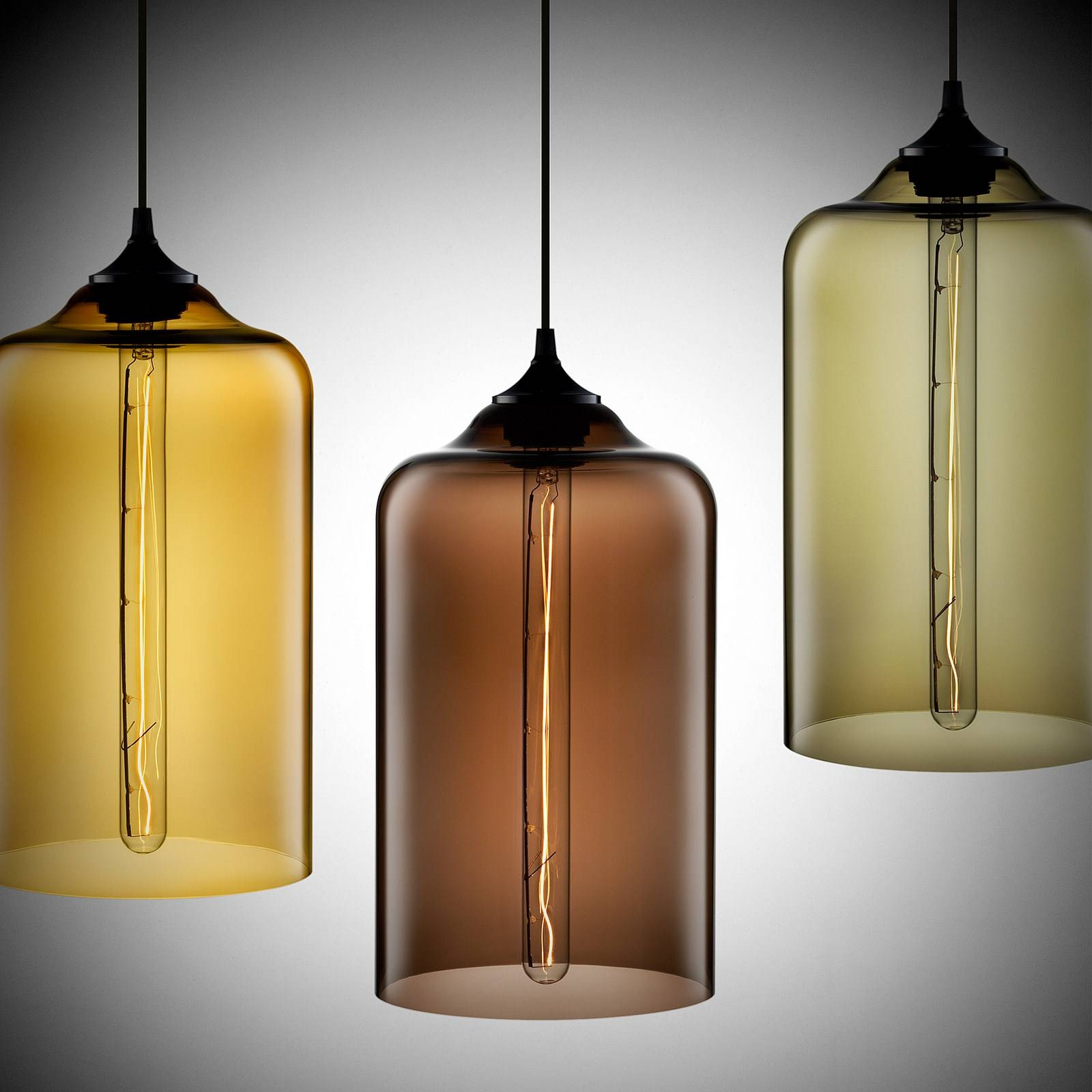 Decoration : Flawless Pendant Lighting Three Kitchen Pendant Lamps regarding Brown Glass Pendant Lights (Image 4 of 15)