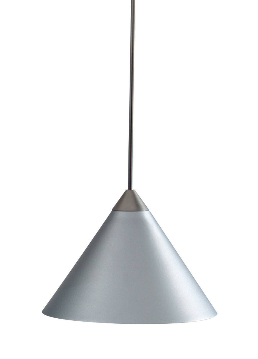 Decorative Short Cone Metal Shadejuno Lighting | Tlpsp311Slvr For Juno Pendant Lighting (View 14 of 15)