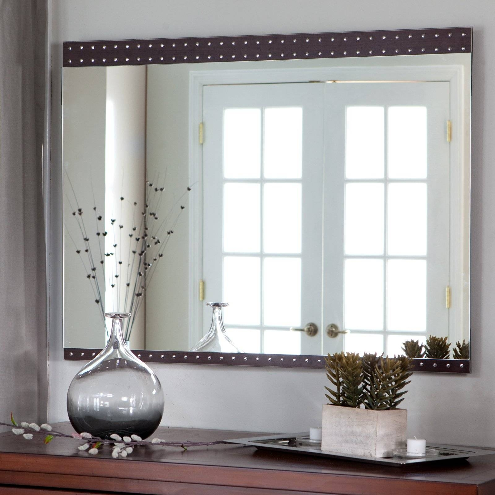 Decorative Wall Mirrors For Bathrooms Dining Room Wall Mirrors inside Contemporary Large Mirrors (Image 7 of 15)