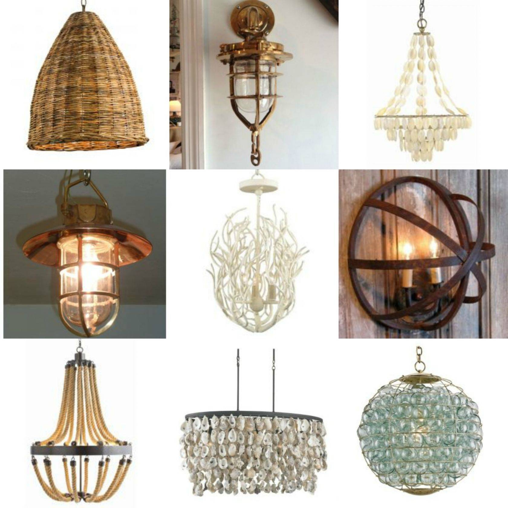 Design Tips: The Right Coastal Lighting throughout Beachy Lighting (Image 11 of 15)