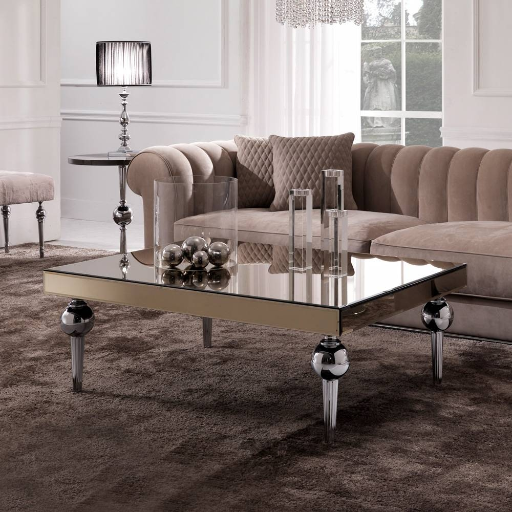 Designer Italian Mirrored Venetian Coffee Table | Juliettes inside Italian Coffee Tables (Image 4 of 15)