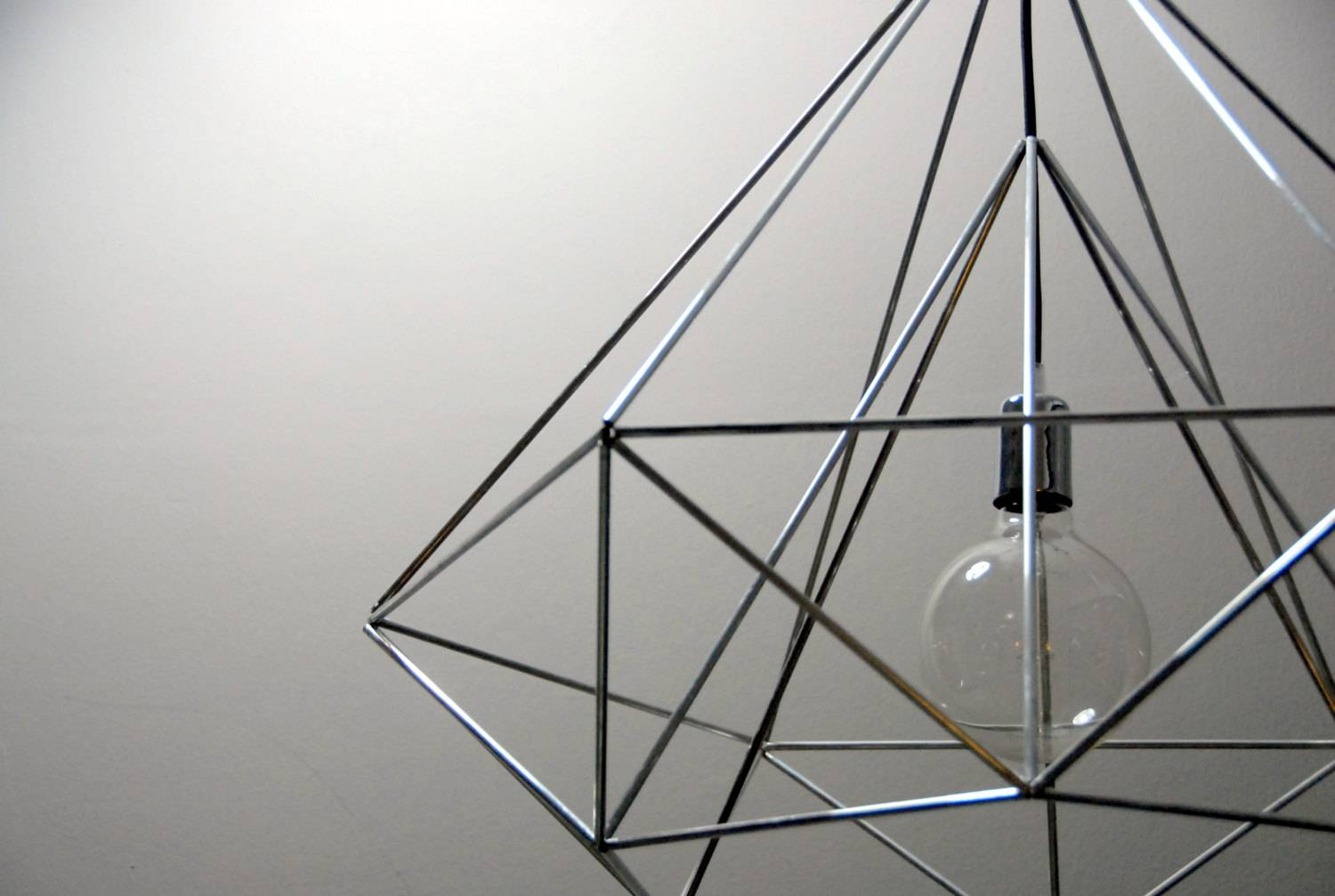 Diamond Pendant Cage Light – Adorable Home intended for Himmeli Pendant Lights (Image 6 of 15)