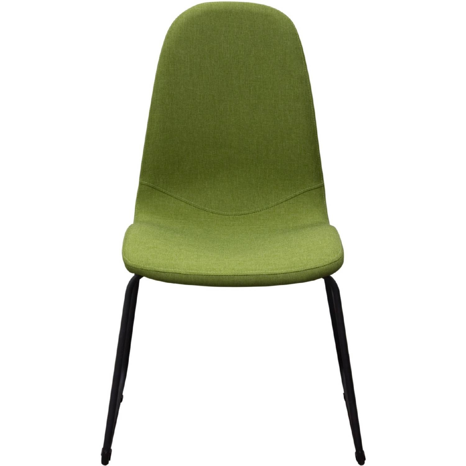 Diamond Sofa Finndcgn2Pk Finn Dining Chairs In Green Fabric W inside Dining Sofa Chairs (Image 5 of 15)