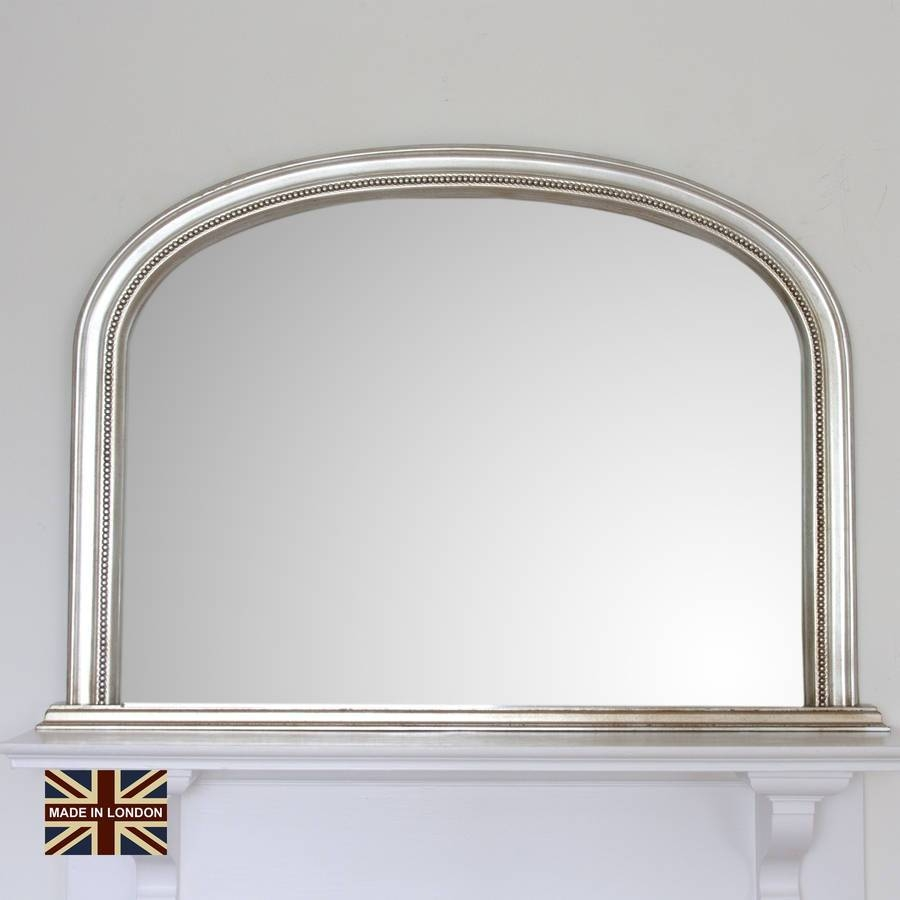 Diana Antiqued Silver Overmanteldecorative Mirrors Online in Over Mantle Mirrors (Image 6 of 15)